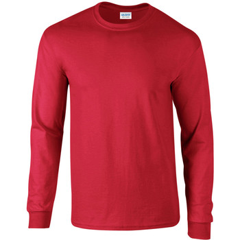 Vêtements Homme T-shirts manches longues Gildan Ultra Rouge