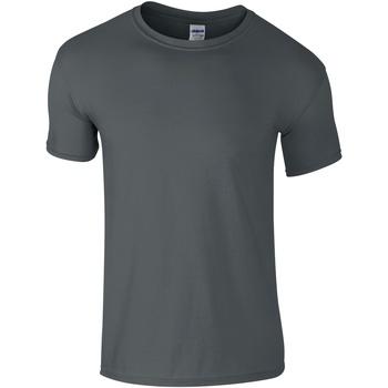 Vêtements Homme T-shirts manches courtes Gildan Soft-Style Gris foncé