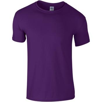 Vêtements Homme T-shirts manches courtes Gildan Soft-Style Violet