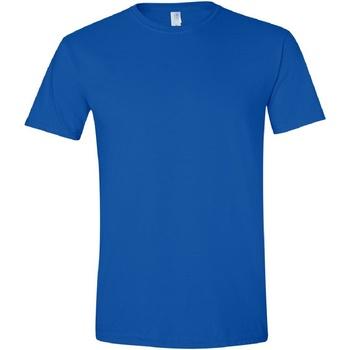 Vêtements Homme T-shirts manches courtes Gildan Soft-Style Bleu roi