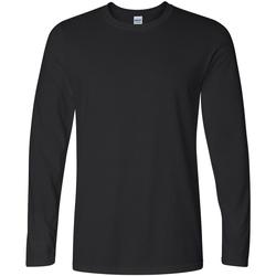 Vêtements Homme T-shirts manches longues Gildan Soft Style Noir