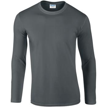 Vêtements Homme T-shirts manches longues Gildan 64400 Gris foncé
