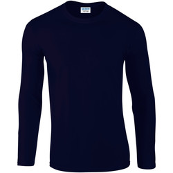 Vêtements Homme T-shirts manches longues Gildan Soft Style Bleu marine