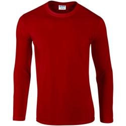 Vêtements Homme T-shirts manches longues Gildan Soft Style Rouge