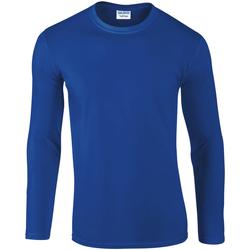 Vêtements Homme T-shirts manches longues Gildan Soft Style Bleu royal