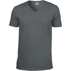 Vêtements Homme T-shirts manches courtes Gildan Soft Style Gris foncé