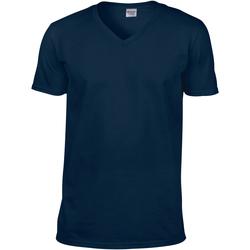 Vêtements Homme T-shirts manches courtes Gildan Soft Style Bleu marine