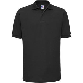 Vêtements Homme Polos manches courtes Russell Polo à manches courtes BC572 Noir