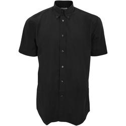 Vêtements Homme Chemises manches courtes Kustom Kit Work Noir