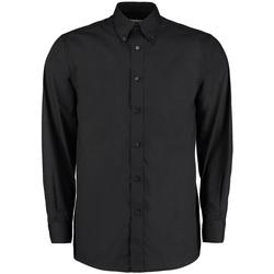 Vêtements Homme Chemises manches longues Kustom Kit Work Noir