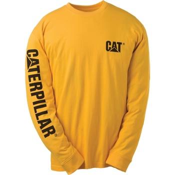 Vêtements Homme T-shirts manches longues Caterpillar TRADEMARK Jaune