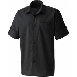 Vêtements Homme Chemises manches courtes Premier PR206 Noir