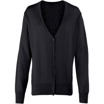 Vêtements Femme Gilets / Cardigans Premier Button Through Noir