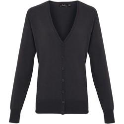 Vêtements Femme Gilets / Cardigans Premier Button Through Gris foncé