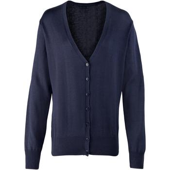Vêtements Femme Gilets / Cardigans Premier Button Through Bleu marine