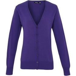 Vêtements Femme Gilets / Cardigans Premier Button Through Pourpre