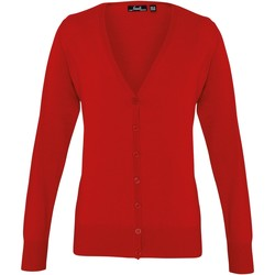 Vêtements Femme Gilets / Cardigans Premier Button Through Rouge