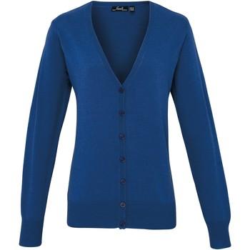 Vêtements Femme Gilets / Cardigans Premier Button Through Bleu roi