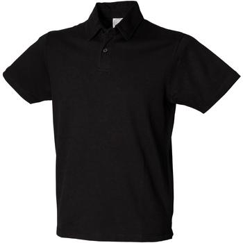 Vêtements Homme Polos manches courtes Skinni Fit Stretch Noir