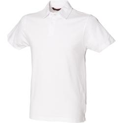 Vêtements Homme Polos manches courtes Skinni Fit Stretch Blanc