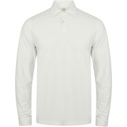 Vêtements Homme Polos manches longues Skinni Fit Stretch Blanc