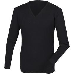 Vêtements Homme T-shirts manches longues Henbury HB760 Noir