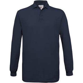 Vêtements Homme Polos manches longues B And C Safran Bleu marine