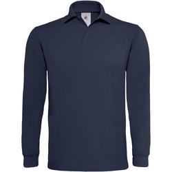 Vêtements Homme Polos manches longues B And C Heavymill Bleu marine