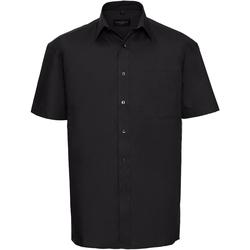 Vêtements Homme Chemises manches courtes Russell Chemise de travail en popeline 100% coton à manches courtes Noir