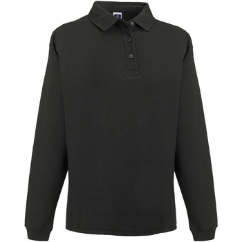 Vêtements Homme Sweats Russell Europe Sweatshirt avec col et boutons RW3275 Noir