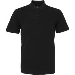 Vêtements Homme Polos manches courtes Asquith & Fox AQ010 Noir