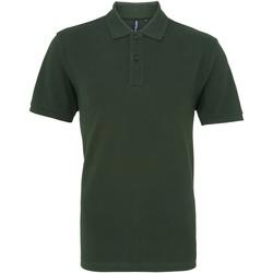 Vêtements Homme Polos manches courtes Asquith & Fox AQ010 Vert bouteille