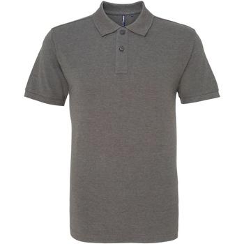 Vêtements Homme Polos manches courtes Asquith & Fox AQ010 Gris foncé