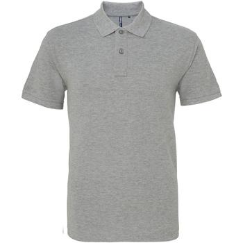 Vêtements Homme Polos manches courtes Asquith & Fox AQ010 Gris