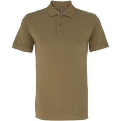 Vêtements Homme Polos manches courtes Asquith & Fox AQ010 Kaki