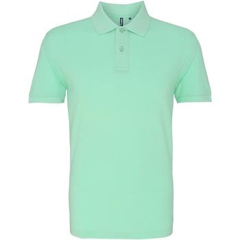 Vêtements Homme Polos manches courtes Asquith & Fox AQ010 Menthe