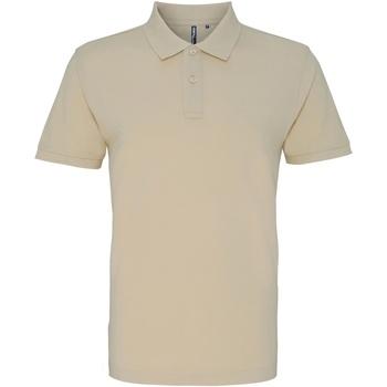 Vêtements Homme Polos manches courtes Asquith & Fox AQ010 Naturel