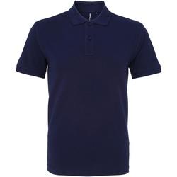 Vêtements Homme Polos manches courtes Asquith & Fox AQ010 Bleu marine