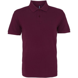 Vêtements Homme Polos manches courtes Asquith & Fox AQ010 Prune