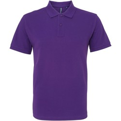 Vêtements Homme Polos manches courtes Asquith & Fox AQ010 Pourpre