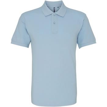 Vêtements Homme Polos manches courtes Asquith & Fox AQ010 Bleu ciel