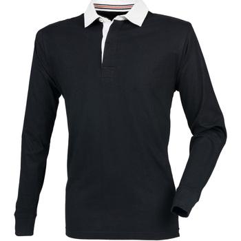 Vêtements Homme Polos manches longues Front Row Premium Noir