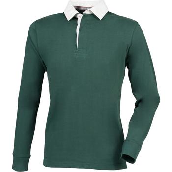 Vêtements Homme Polos manches longues Front Row Premium Vert bouteille