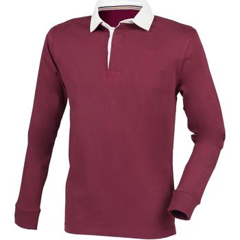 Vêtements Homme Polos manches longues Front Row Premium Bordeaux