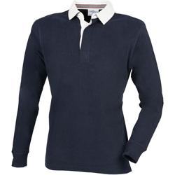 Vêtements Homme Polos manches longues Front Row Premium Bleu marine