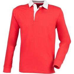 Vêtements Homme Polos manches longues Front Row Premium Rouge