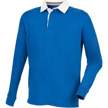 Vêtements Homme Polos manches longues Front Row Premium Bleu roi