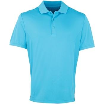 Vêtements Homme Polos manches courtes Premier Coolchecker Turquoise
