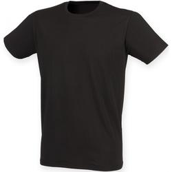 Vêtements Homme T-shirts manches courtes Skinni Fit Stretch Noir
