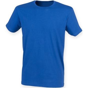 Vêtements Homme T-shirts manches courtes Skinni Fit Stretch Bleu roi
